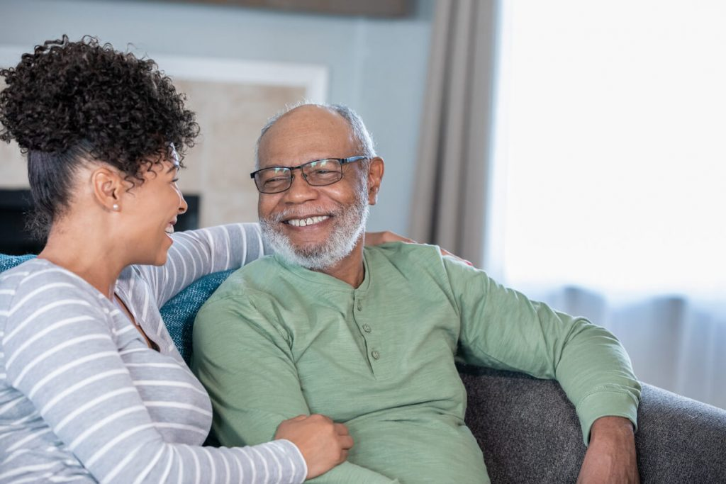 father discussing irrevocable life insurance trust