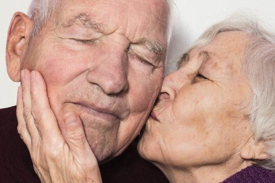 supportive senior couple